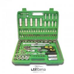 Estuche de herramientas de 113 piezas doce caras