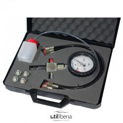 Comprobador de alta presión inyección common rail con prueba directa de bomba + tapones detección fugas
