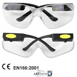 Gafas de protección con led
