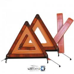 Triángulo de señalización doble homologado