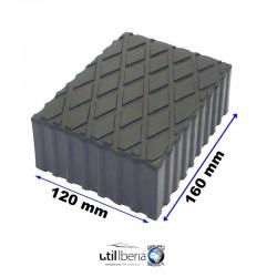 Taco de Goma de Elevador de Tijeras 120x160x60 mm