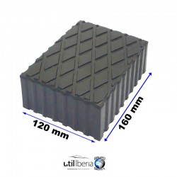 Taco de Goma de Elevador de Tijeras 120x160x80 mm