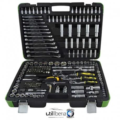 Estuche de herramientas de 216 piezas cierre metálico