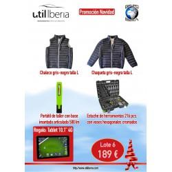 Conjunto 6 (chaleco, chaqueta, portátil taller, estuche herramientas)
