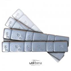 Contrapesa hierro autoadhesiva en pastillas de 45 gramos