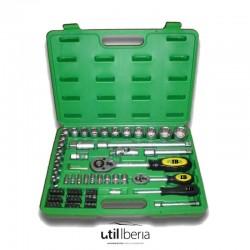Estuche de herramientas de 74 piezas doce caras