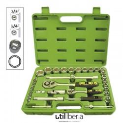 Estuche de herramientas de 35 piezas en pulgada