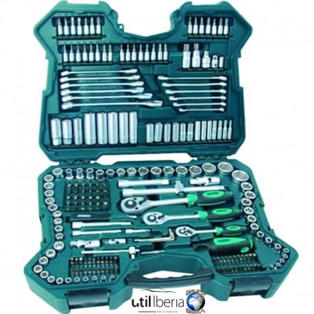 Estuche de herramientas de 215 piezas mannesmann