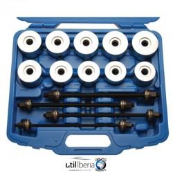 Juego universal para instalar y extraer silentblocks, rodamientos y retenes